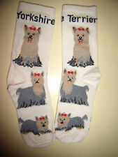 YORKSHIRE TERRIER DOG SOCKS BY WHEEL HOUSE TOES, SIZE 9-11