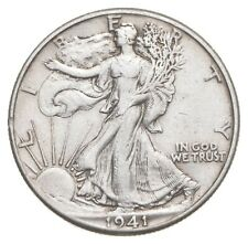 AU/Unc - 1941 Walking Liberty Silver Half Dollar - Better *453