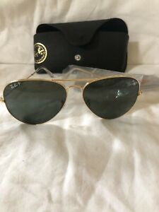 RAYBAN AVIATORS GOLD FRAME NEW WITHOUT TAGS