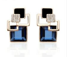 Crystal Mixed Metals Stud Fashion Earrings
