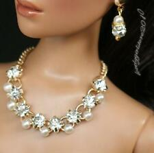 """Rhinestone Necklace and Earring Jewelry Set for 16"""" Tonner Tyler 082B"""
