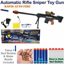 ELECTRIC Semi Full Automatic Sniper Toy Gun Nerf Soft Water Crystal Bullet Auto