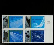 2002 34c Winter Olympic Sports, Block of 4 Scott 3552-55 Mint F/VF NH