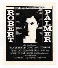 Robert Palmer 1988 Nov 8 Bakersfield Civic Auditorium Handbill