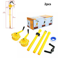 Barrel Pump Polypropylene Drum Rotary Hand Pump Oil Fuel Petroleum Barrel(2pack)