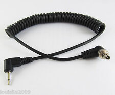 New 1Ft 30CM 2.5mm Male Plug to Angle Male Flash PC Sync Cord Retractable Cable