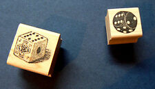 2 antique styled dice rubber stamps  P22