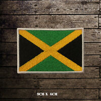 JAMAICA Flag Embroidered Iron On Sew On Patch Badge For Clothes Etc