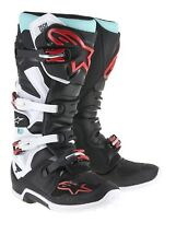ALPINESTARS TECH 7 Nero-Turchese-ROSSO TG. 44,5 ENDURO/CROSS STIVALI MOTO