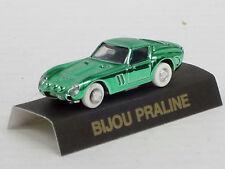 Ferrari 250 GTO en verde metalizado como prendedor/pin con caja, pral. Bijou, 1:87