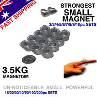 Super Strong Magnets Round Rare Earth Neodymium Clear Loop 3.5KG Hold 2-200pc Pk