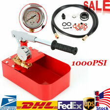 Hydraulic Pressure Test Pump 69bar Hand Pump Manual 1000psi For Water Oil New