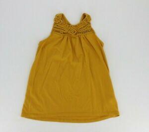Old Navy Big Girls Racerback Sleeveless Top Shirt Size Large (10-12) Yellow