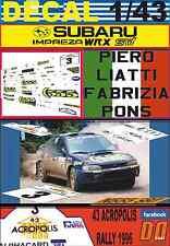 DECAL 1/43 SUBARU IMPREZA 555 P.LIATTI ACROPOLIS R. 1996 4th (07)