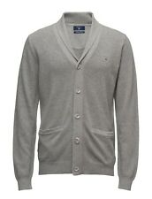 Gant For Mens Fitted Shawl V-neck Long Sleeve Cardigan Jumper Wool Knit Medium M Jumpers & Cardigans