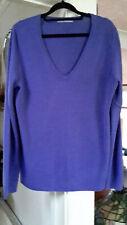M&S Woman Ladies Pale Purple/Lavender V Neck Jumper Size 16