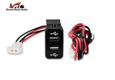 Car Dual USB Charger Switch for Toyota 4Runner 2003 2004 2005 2006 2007 2009