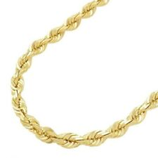 "Genuine 14K Yellow Gold 16""-32"" Rope Chain Pendant Necklace Men Women 1.5mm- 5mm"