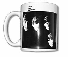 Beatles With The Beatles White Ceramic Coffee Mug Collectible New NIB Album Art