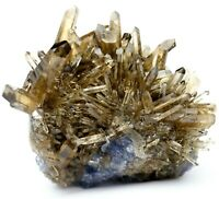 "175g Rare Smoky Quartz & Fluorite & ""Columnar"" Calcite Crystal Mineral Specimen"