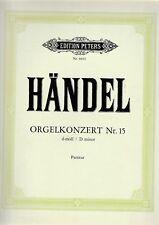 G.F.Händel: Orgelkonzert Nr.15 d-moll. Partitur.