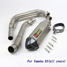 Slip on for Yamaha R3  Motorcycle Exhaust Muffler Escape Front Connect Link Pipe