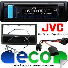 Vauxhall Meriva A 02-05 JVC CD MP3 AUX USB Car Stereo & Black Steering Wheel Kit