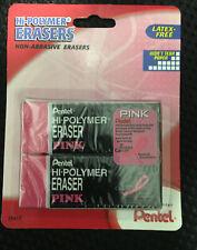 Pentel Hi Polymer Eraser Large Pink 2 Pack