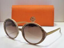 Authentic Tory Burch TY 9017 1084/13 Snake Skin Brown Gradient Sunglasses $299