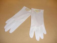 1960's White Daytime Gloves w/ Irridenscent Paillettes - Estate Find Never Worn