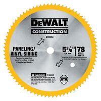 "Dewalt DW9053 5-3/8"" x 80 Tooth Paneling and Vinyl Cutting Steel Saw Blade"