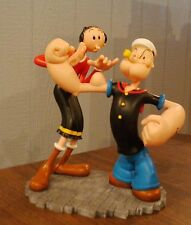 Extremely Rare! Popeye Olive Checking Popeye's Muscles Figurine Statue