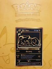 Pokemon Base 1st Persian Gold LUXURY CARD custom card Christmas gift