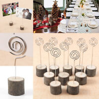 10-30pcs  WOODEN WEDDING PARTY CAFE CARDS STAND PLACE NAME MEMO DISPLAY HOLDER