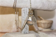 Harry Potter Snitch Watch Necklace Steampunk Quidditch Pocket Clock Pendant D3