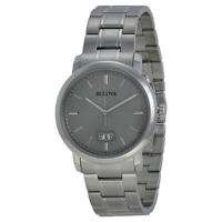 Bulova Men's Classic Collection Quartz Date Calendar Gray 40mm Watch 96B200