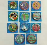 Los Angeles 1984 Olympics Buttons Lot of 11 Pins Vintage 80s Pinback Large Round