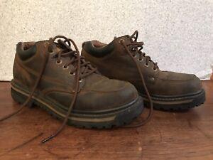 SKECHERS LEATHER MARINER 4470 UTILITY BOOTS USA-MEN 9.5 UK-8.5 EU-425 Shoe Brown