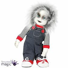 Zombie Child Horror Animated Zombie Doll With Sound Chucky Halloween Prop 32cm