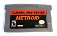 Metroid Classic NES Series NINTENDO GAMEBOY ADVANCE GBA Game TESTED + Authentic!