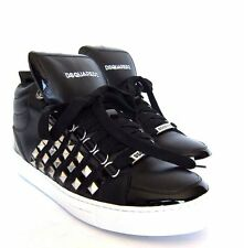 Boots for Men, Booties On Sale, Black, Leather, 2017, 8 Dsquared2