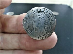 QUEEN ELIZABETH1st silver hammered(SIX PENCE MM TUN) detecting find