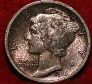 1916 Philadelphia Mint Silver Mercury Dime