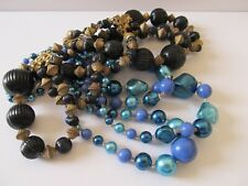 Beaded Necklaces Vgvc! Two Vintage Three Strand