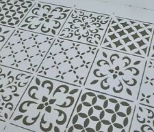 A4 STENCIL ASSORTED VICTORIAN TILES ❤ Furniture Craft REPEATABLE 190 MYLAR 001