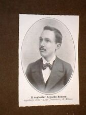 Il Ragioniere Arnaldo Schoen nel 1907 Segretario della Lega Tramvieri di Milano