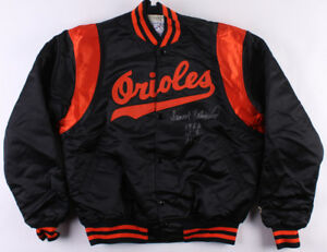 "Frank Robinson Signed Orioles Warm-Up Jacket Inscribed ""1966 WS MVP"" (PSA COA)"