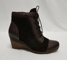 Ladies Boots Pitillos MOKA-MARRO Size 37 or US 6.5 Brown Leather Spain rrp$185