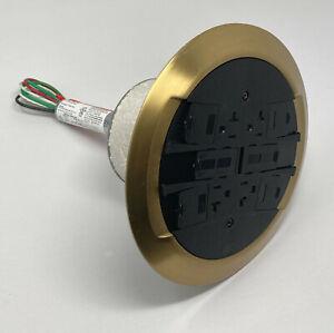 Legrand Wiremold RC4ATCBS-LJB Poke-Thru Device Brass Flush Multi-Service New