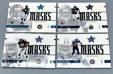 LOT of FOUR (4) - 2003 NFL GAME USED HELMET MASK FOOTBALL CARDS TYRONE CALICO